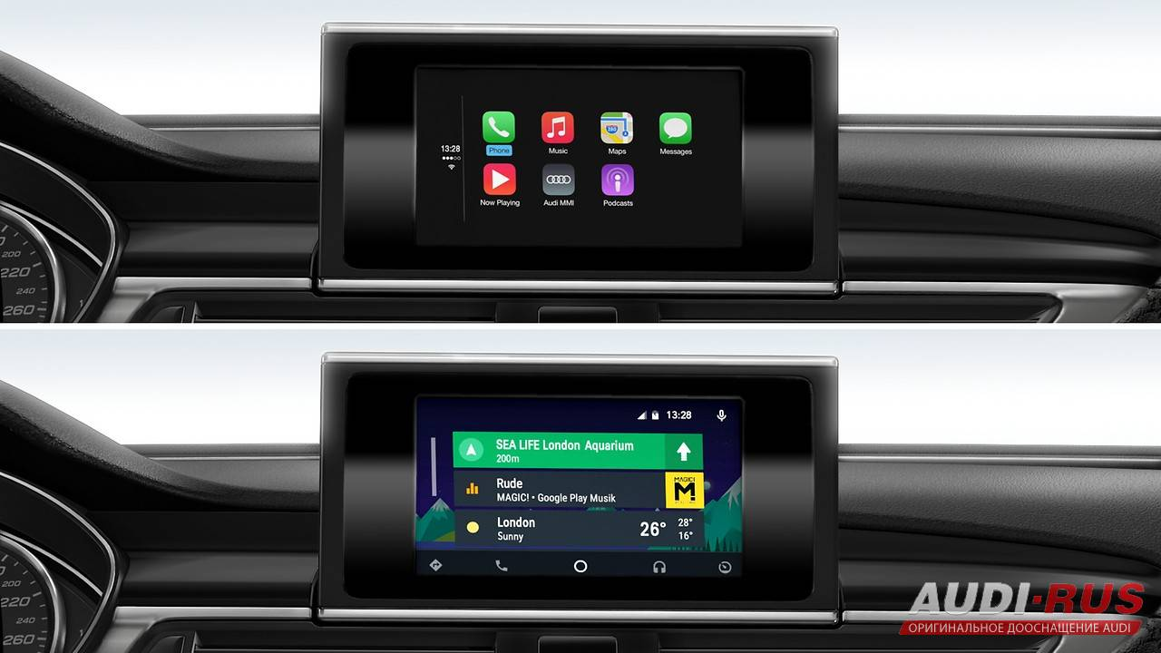 audi smartphone interface car play. Black Bedroom Furniture Sets. Home Design Ideas