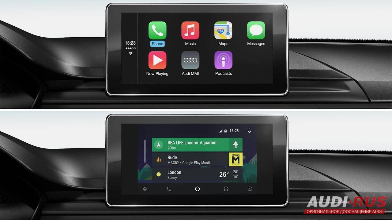 audi smartphone interface audi a4 b9 8w. Black Bedroom Furniture Sets. Home Design Ideas