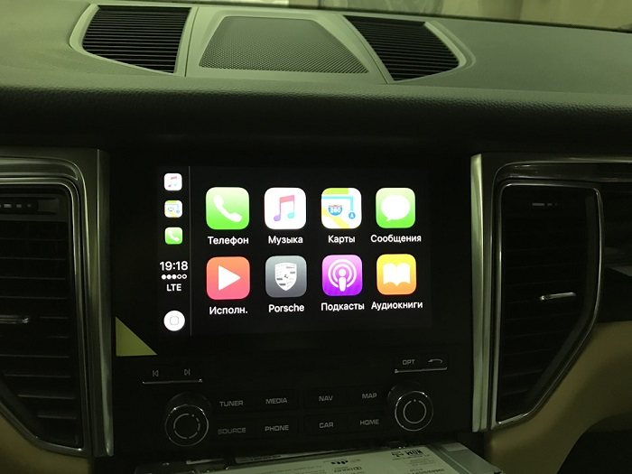 Активация Apple CarPlay на Porsche Macan 3