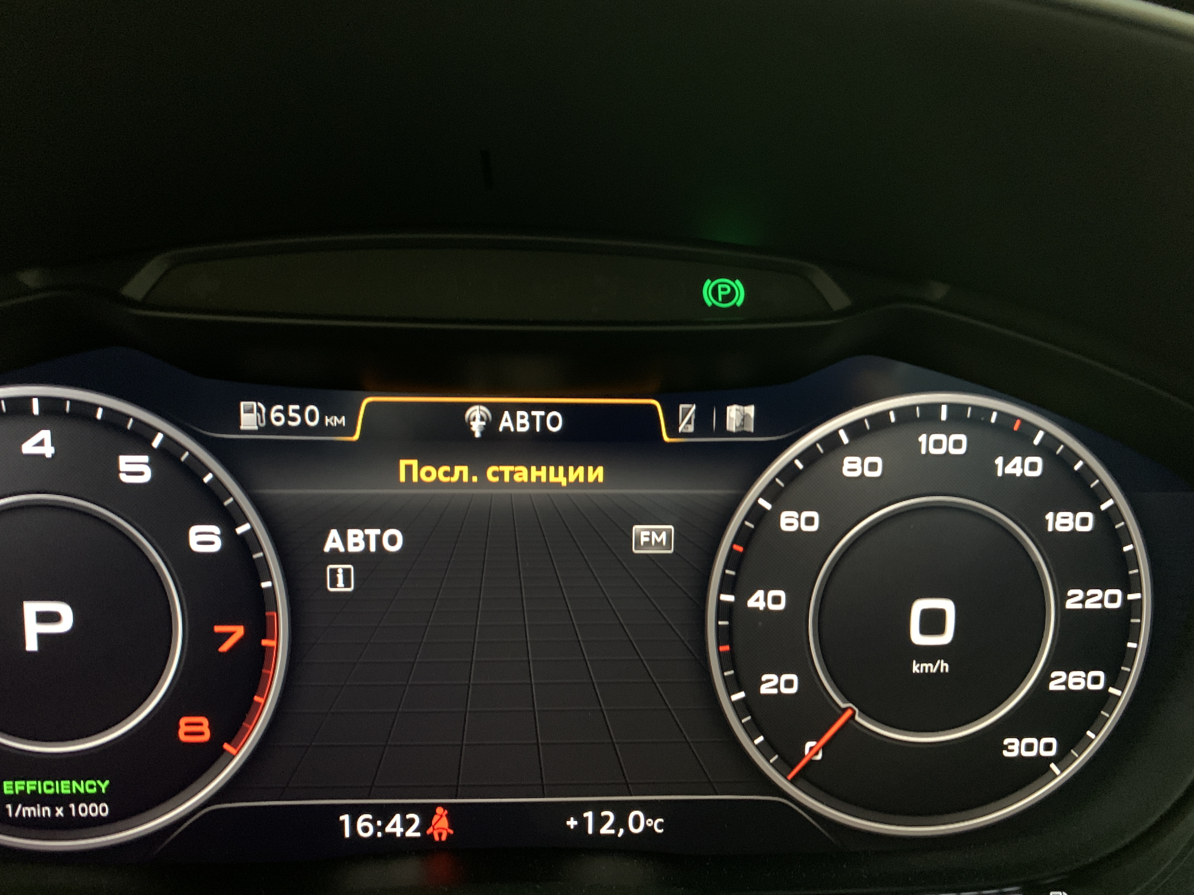 Индикация Audi Hold Assist