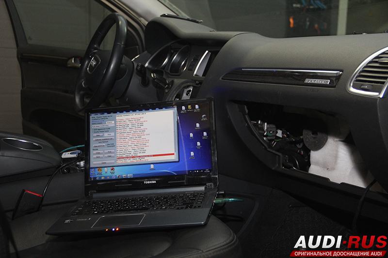 Установка навигации MMI 3G Plus и круиз контроля на Audi Q7 4L