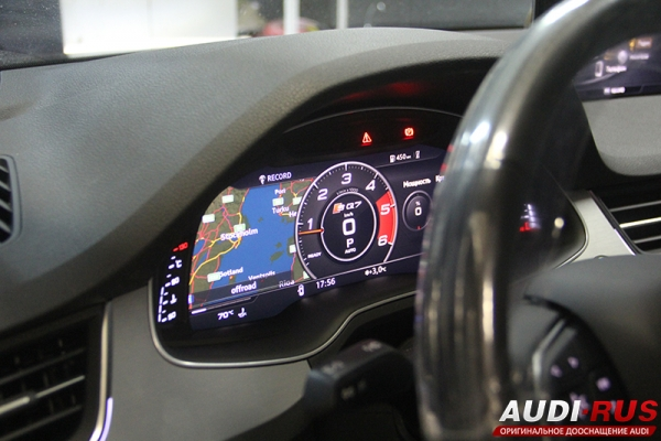 Установка навигации MIB 2, Audi Virtual Cockpit и Apple Carplay на Audi Q7 4M
